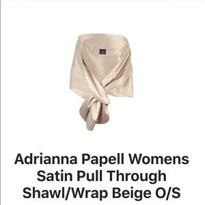 Adrianna Papell Satin Pull Through Shawl/ Wrap